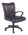 transitional black leather desk chair