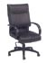 high back black leather transitional executive desk chair