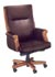 wood and burgundy leather executive desk chair