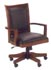 contemporary wood and black leather desk chair