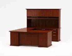 inspire executive office furniture U workstation with highback organizer