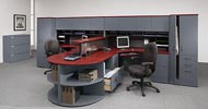 adaptabilities executive office furniture double workstation