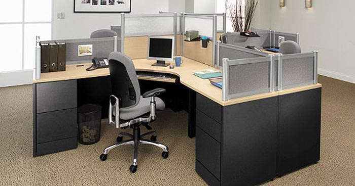 office workstation utilizing Divide components