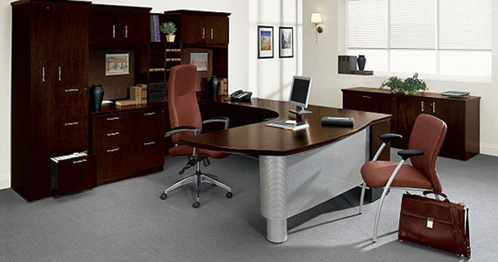 Global Total Office Easton Wood Veneer Series Of Modern To