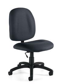 global armless task chair