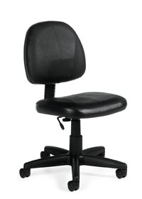 global leather task chair