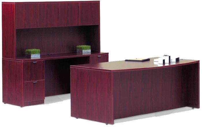 desk credenza and hutch