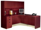 executive &quot;L&quot; desk with hutch