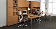 whitby executive office furniture double L workstation