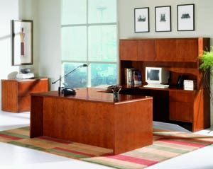 Forte u desk hutch suite