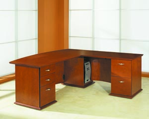 affirm bow front desk
