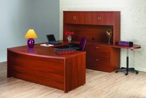 atlas bow front u desk suite