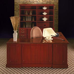 "Bedford executive ""L"" desk suite"