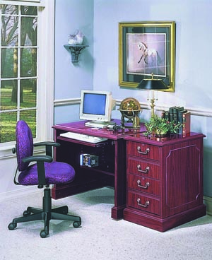 Bedford computer desk and 2 drawer vertical file