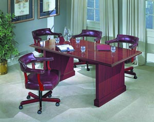 Conference table with banker chairs