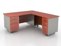 """executive """"L"""" desk"""