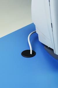 Desk top grommet detail