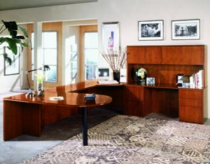 forte peninsula bridge corner unit credenza suite
