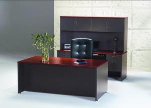 hyperwork desk credenza hutch