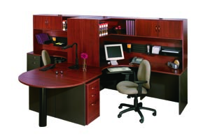 "hyperwork double ""L"" peninsula workstation"