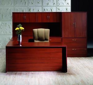 hyperwork u desk computer corner lateral storage cabinet