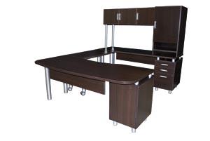 modern u desk suite