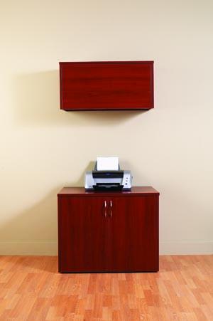 uniwork printer cabinet overhead storage