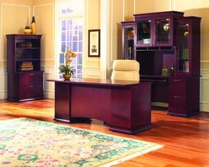 westboro transitional desk credenza hutch suite