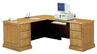 "wyndham ""L"" desk working side view"
