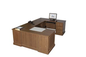 "wyndam traditional ""U"" desk"