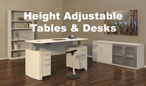Medina height adjustable desk and other sit to stand tables