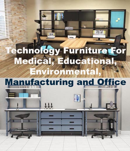 Technologu furniture for use in offices and other applications