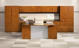 Centennial Veneer office furniture for offices environments with a contemporary to modern flair.
