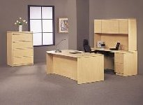 Light maple office furniture