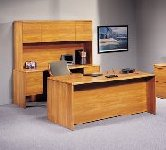 Lakeport executive office furniturem medium oak desk ensemble from Indiana office furniture