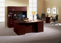 Resilience High pressure laminate office furniture styled with a contemporary look.