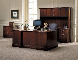 Jefferson Traditional office furniture made of high quality veneers brings you contemporary function.