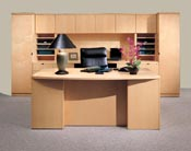 revolutions, Transitional office furniture styling. Quality veneer office furniture.