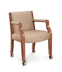 Halsted guest chairs with casters
