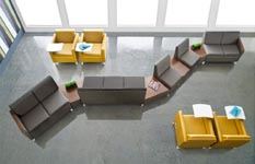 Isla collection reception seating and furniture