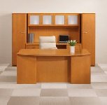 executive bow front desk