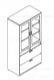 storage lateral file unit with pigeonholes and translucent doors