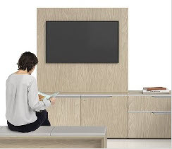 STAD multimedia furniture with Nex Panel Systems