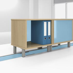 Desk top storage cabinet