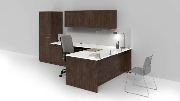 Concept 400e with workplace distancing panels