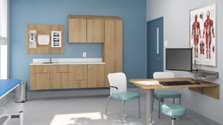 Harmonia series healthcare furniture by Group Lacasse