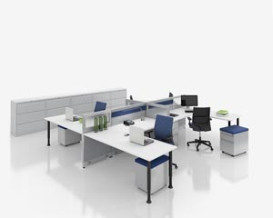 nvision open desking systems