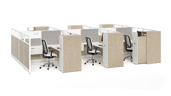 Paradigm collection workplace distancing workstations