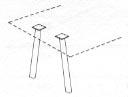 angled metal legs