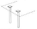 metal round legs